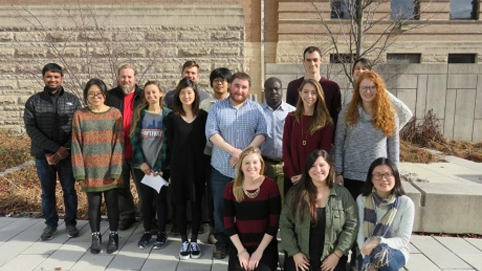 Members of the CCBBI Student Group gather for a photo after their Users Workshop.